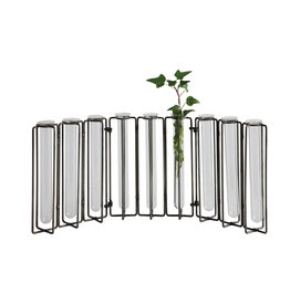 Metal and Glass Vase Centerpiece