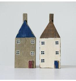 Handmade Wood Houses (Set of 2)