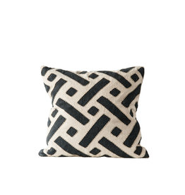 Embroidered Mudcloth Pillow