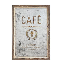 "Antiqued ""Café"" Mirror"
