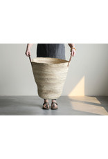 Handwoven Moroccan Basket, 28.5L x 14W x 20H in.