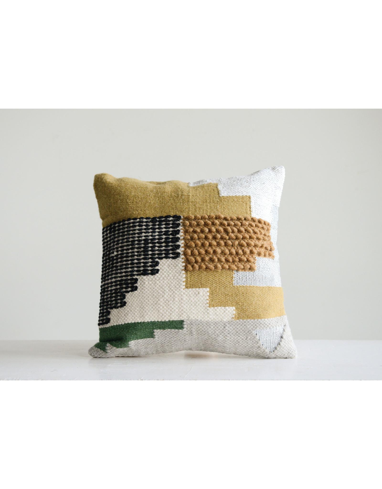 "Handwoven Pillow, 20""L x 4""W x 20""H"
