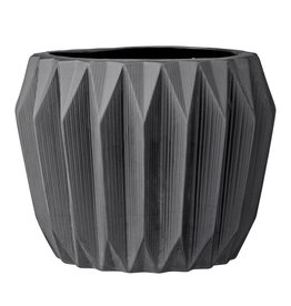 Fluted Ceramic Flower Pot