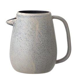 Glazed Gray Stoneware Pitcher