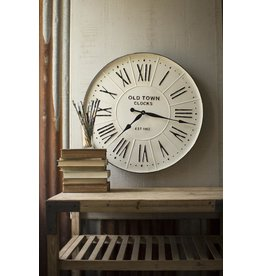 Old Town Enameled Wall Clock