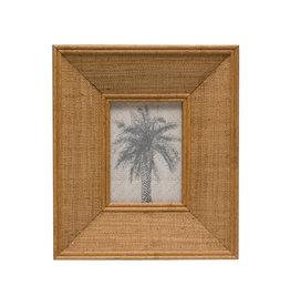 "Wood & Raffia Photo Frame (Holds 5"" x 7"" Photo)"
