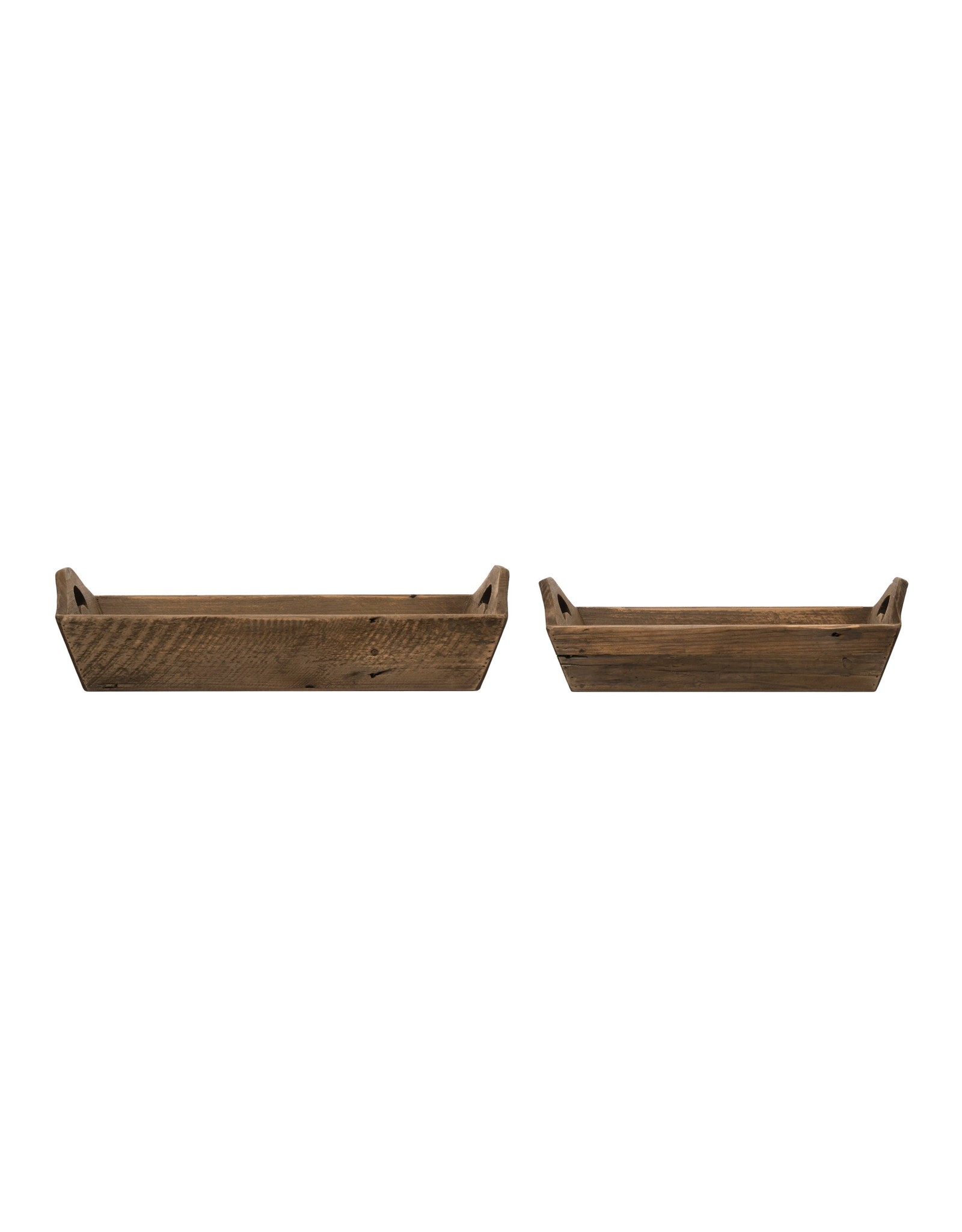 Fir Wood Trays with Handles (Set of 2 Sizes)