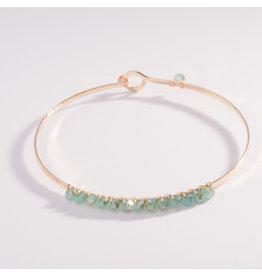 14kg Hand-Forged Aqua Crystals Bracelet