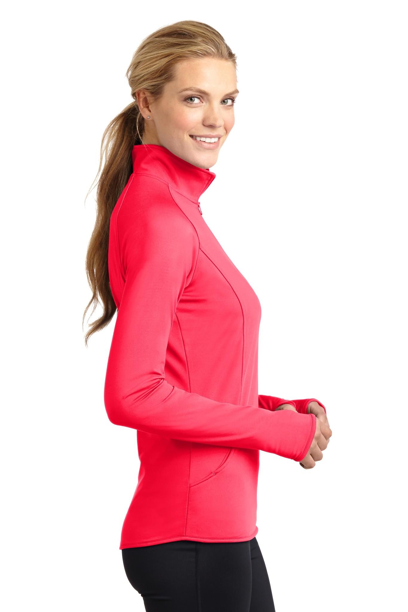 Half Zip with Up-N-Running Logo - Women