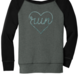 Mad Dash Creations Run Heart Laces Slouchy Sweatshirt - Women