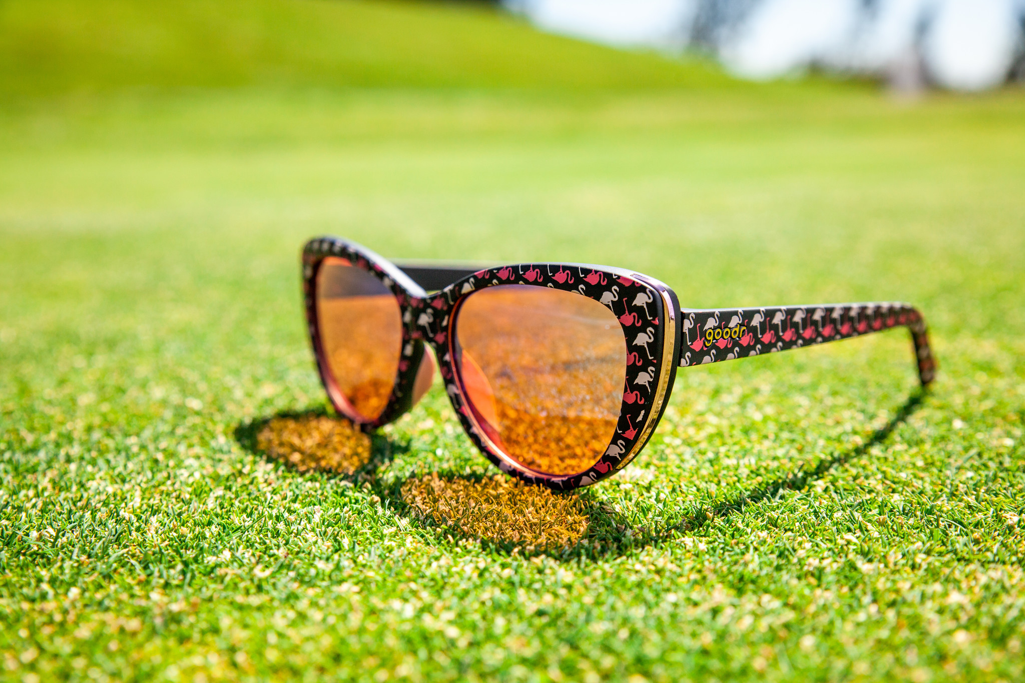 goodr Runway goodr Sunglasses - Gopher a Flamingo!