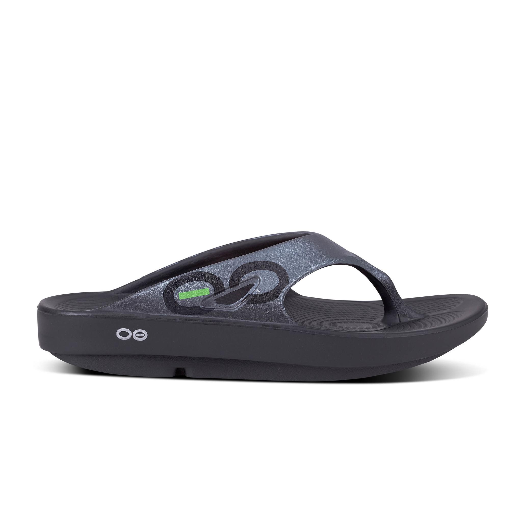 OOfos OOriginal Sport Thong, Graphite/Black