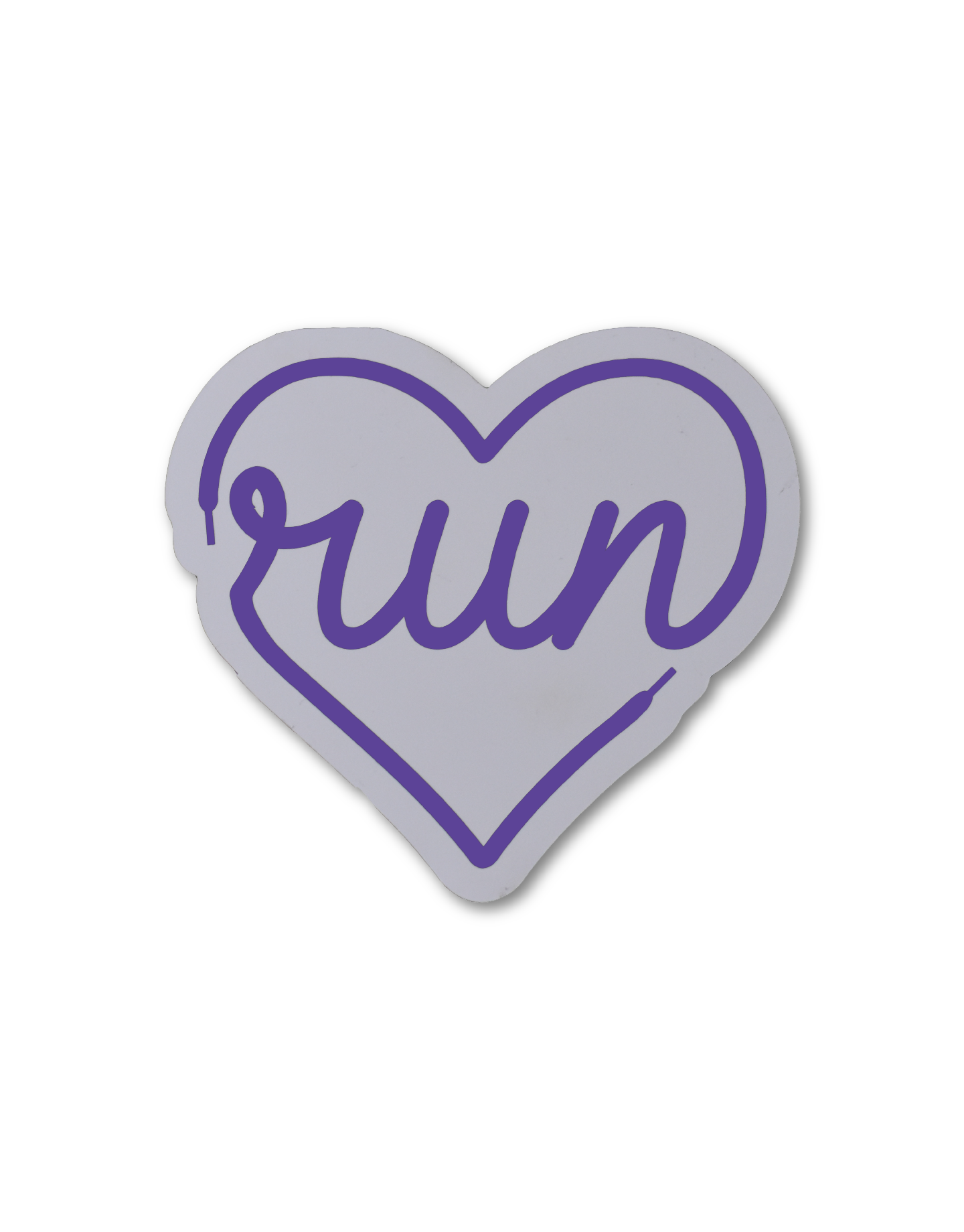 Mad Dash Creations Run Heart Laces Magnet