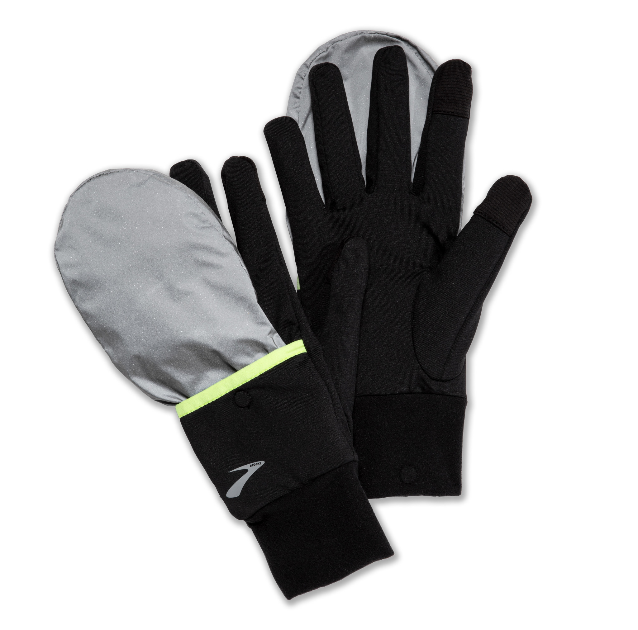 Brooks Brooks Nightlife Glove, Black/Reflective
