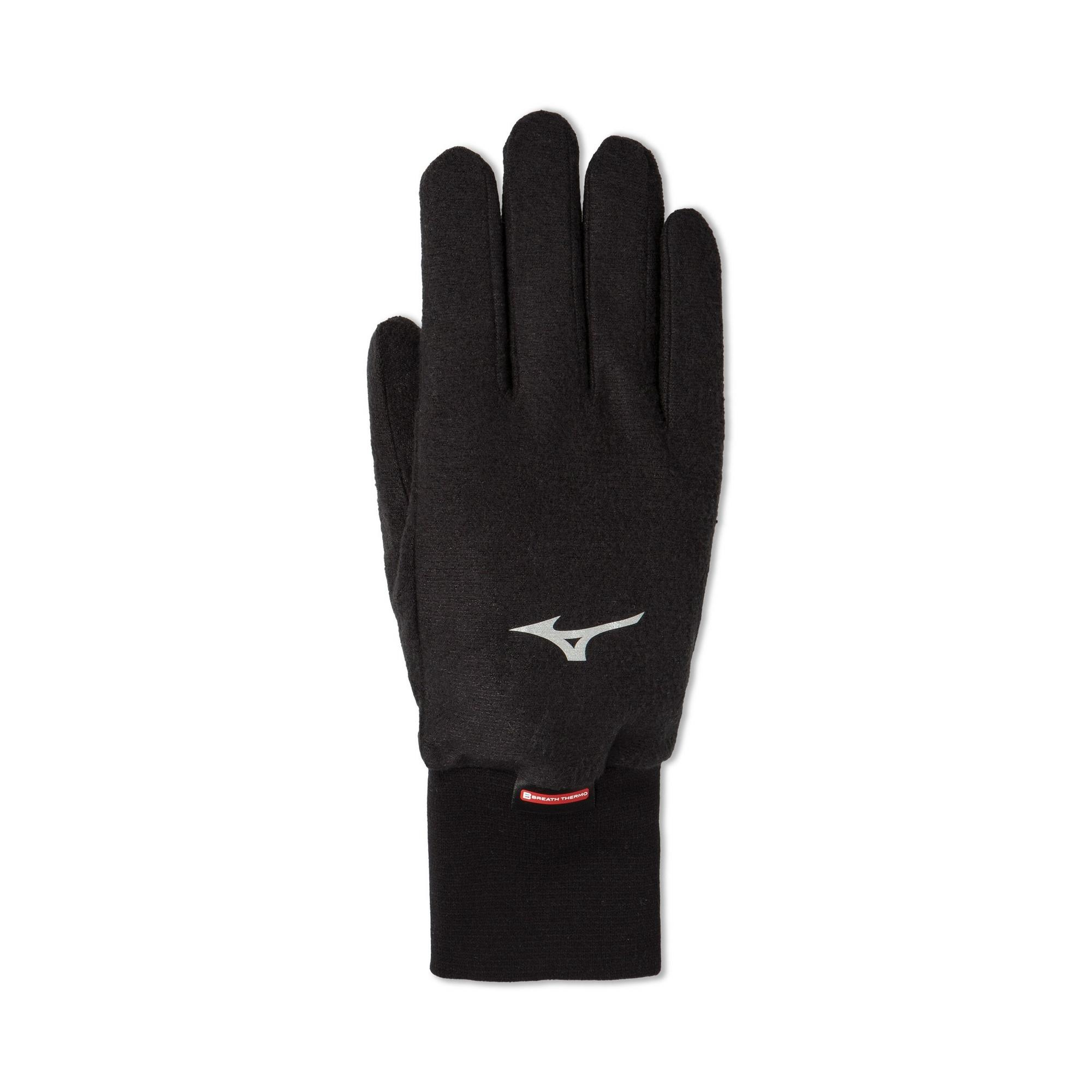 Mizuno Mizuno Breath Thermo Fleece Glove, Black