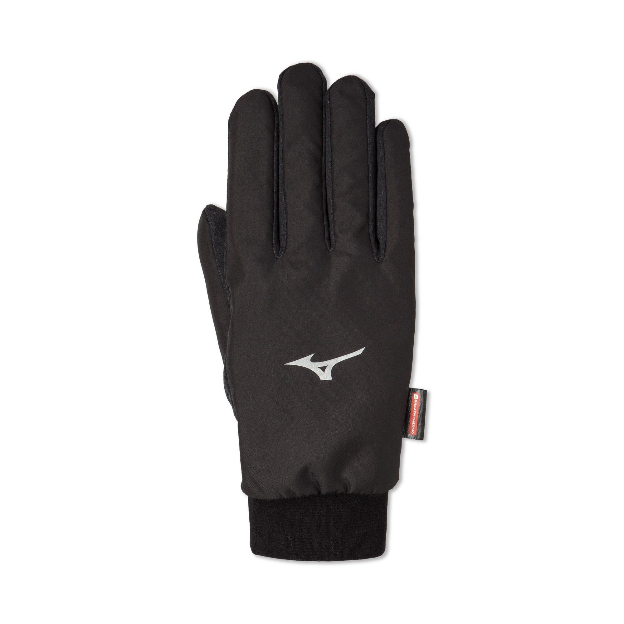 Mizuno Mizuno Breath Thermo Wind Guard Glove, Black