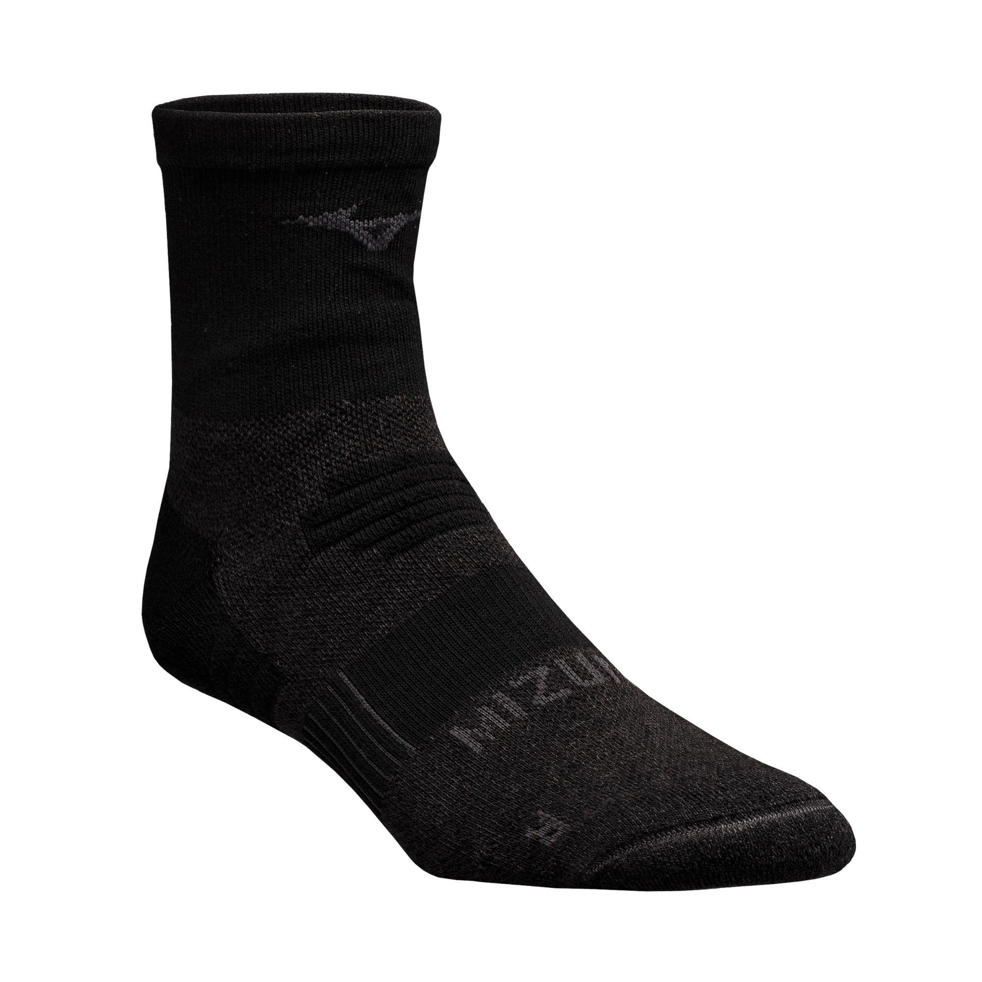 Mizuno Mizuno Breath Thermo Racer Mid Socks, Black