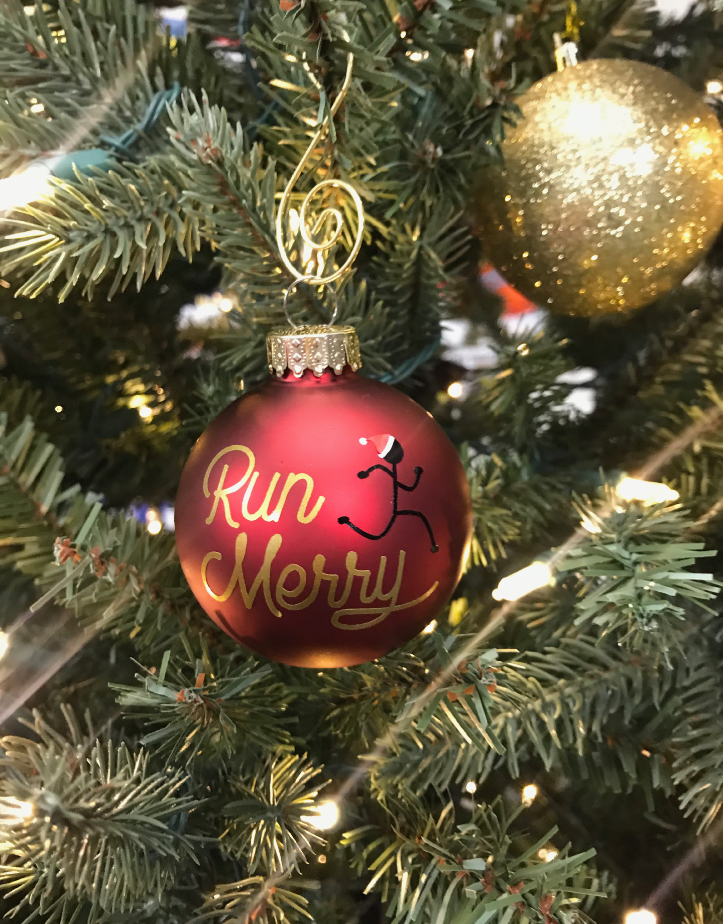 Mad Dash Creations Run Merry Ornament