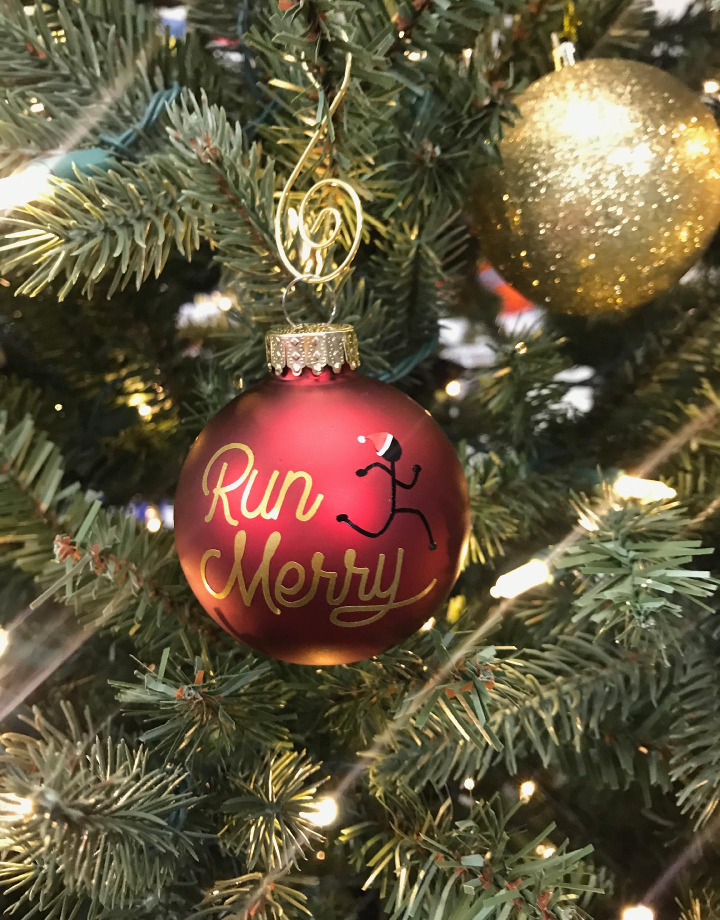 Mad Dash Creations Run Merry Ornament