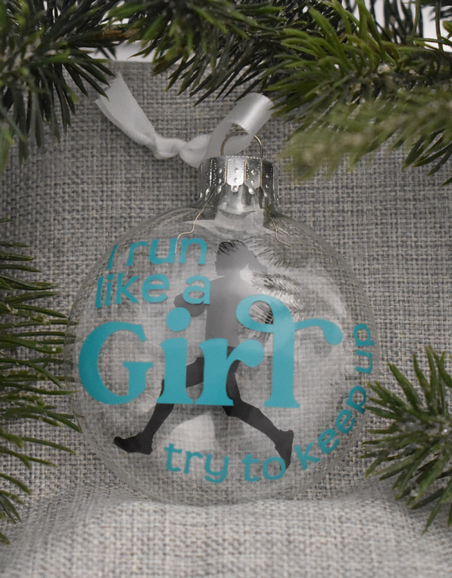 Mad Dash Creations Run Like a Girl Ornament