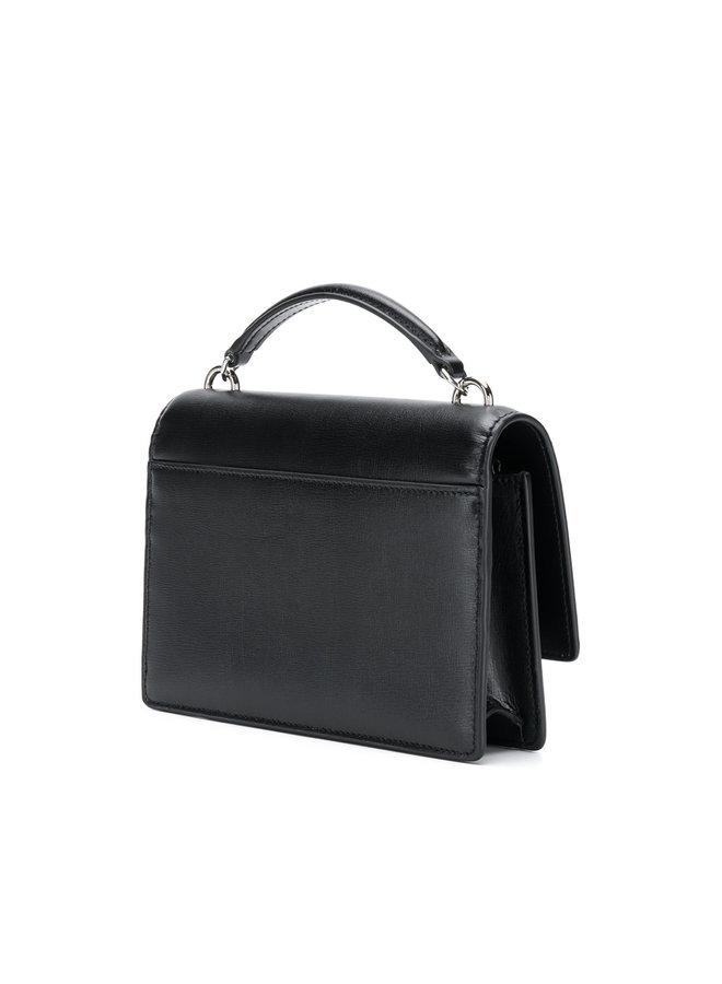 Mini Sunset Shoulder Bag in Black