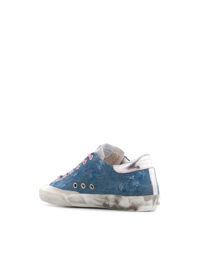 Superstar Sneakers in Light Blue Denim