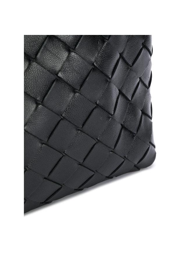 Small Crossbody Bag in Intrecciato Black