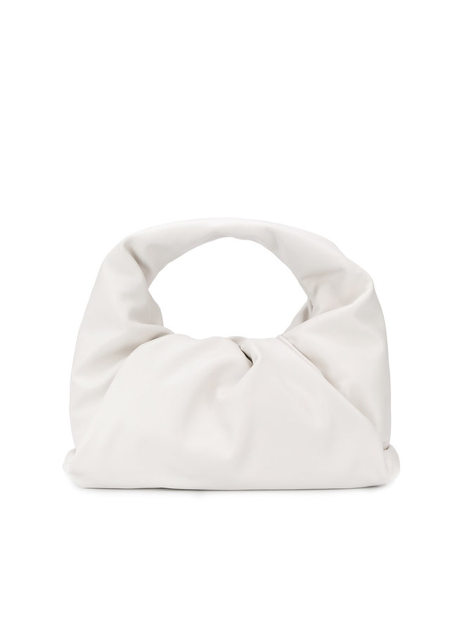The Shoulder Pouch in Leather in White