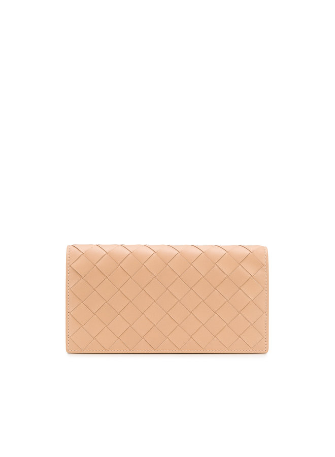 Continental Wallet in Intrecciato Leather