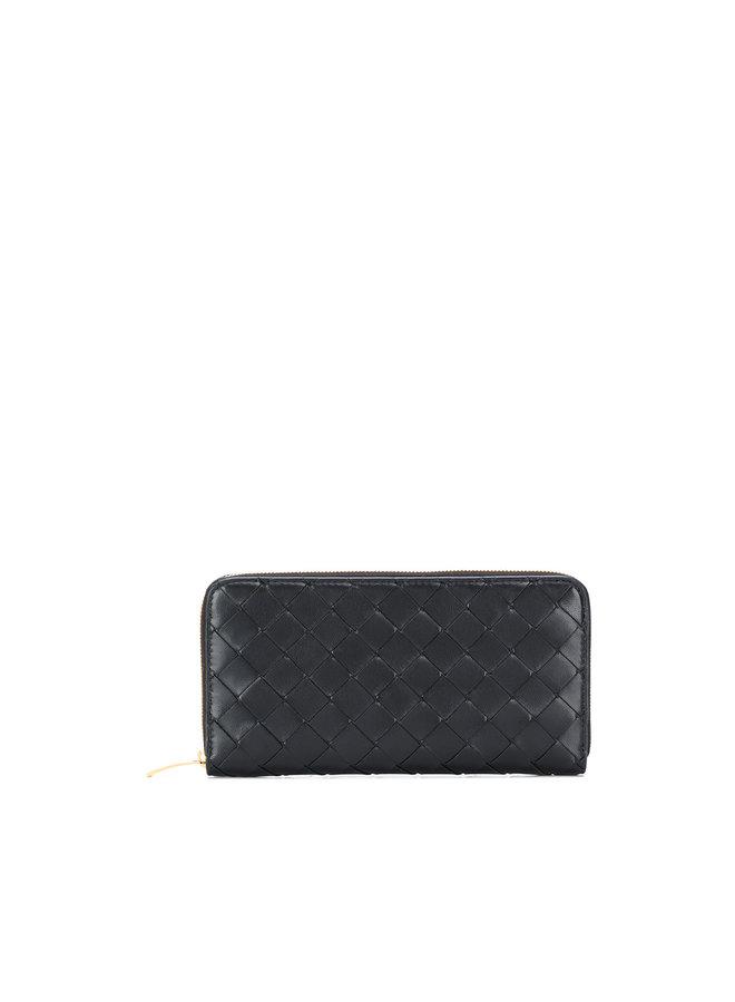 Zip Around Wallet in Intrecciato Nappa