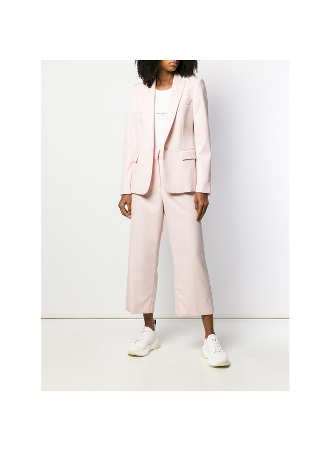 Cropped Pants in Stretch Wool In Tearose