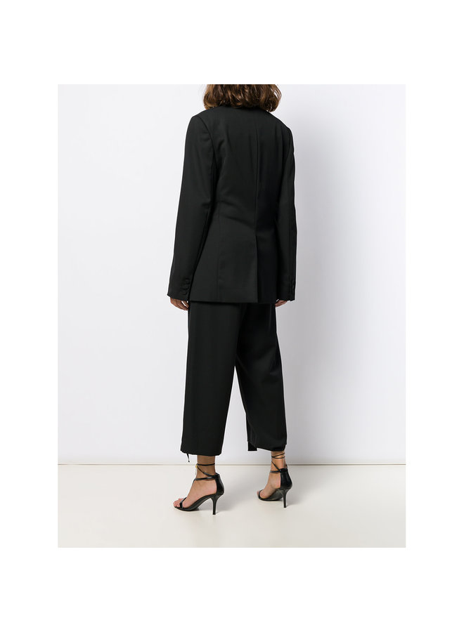 Double Breasted Blazer Jacket in Black