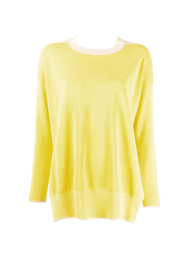 Knitted Bicolor Sweater