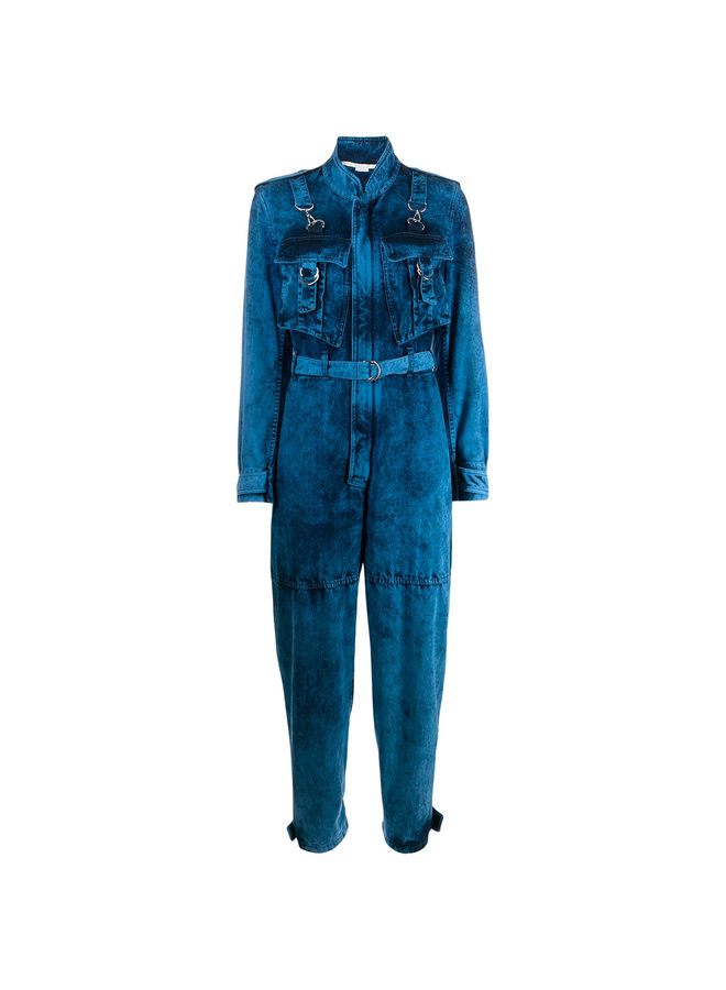 Jumpsuit with Belt in Galaxy Wash