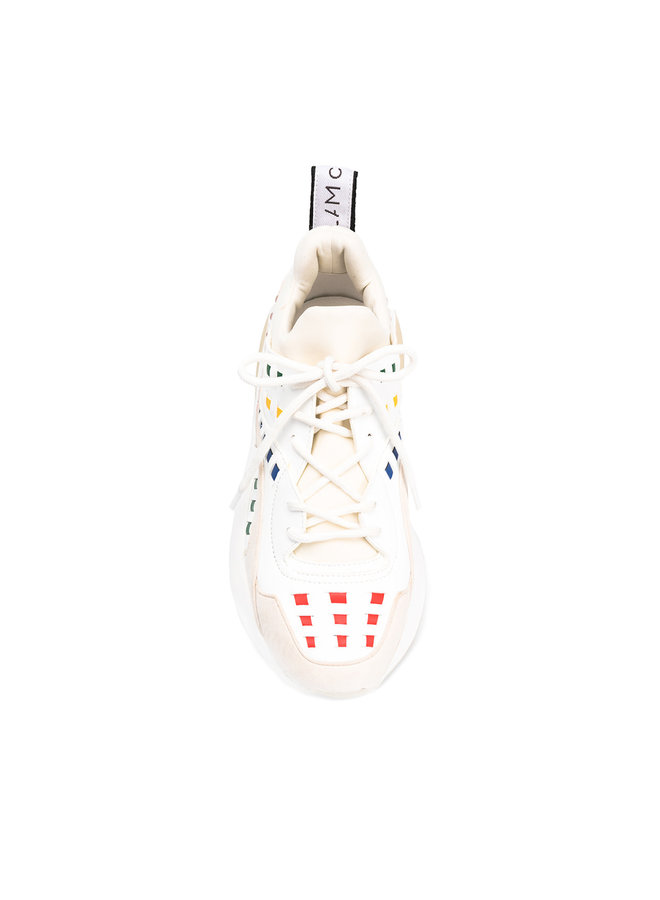 Eclipse Low Top Sneaker in White/Multi
