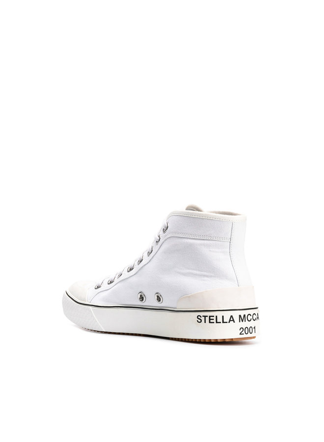High Top Sneaker in White
