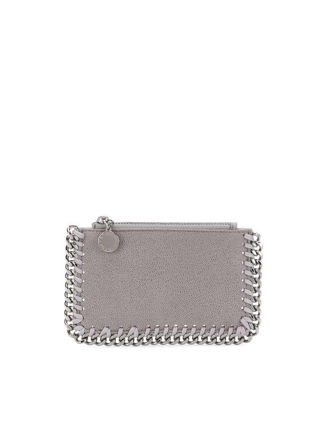 Falabella Card Case in Light Grey