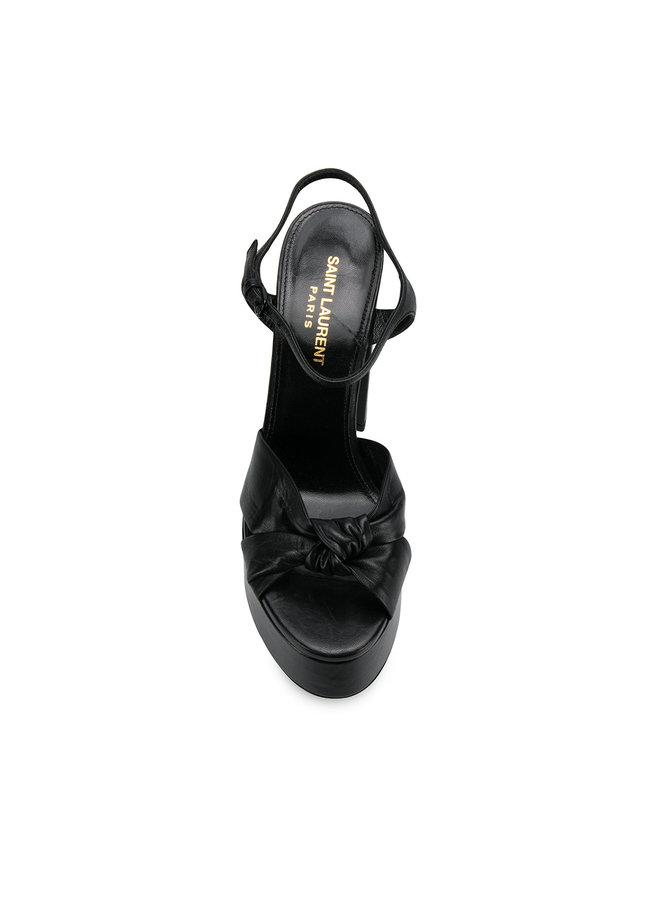 Bianca High Heel Platform Sandals in Black