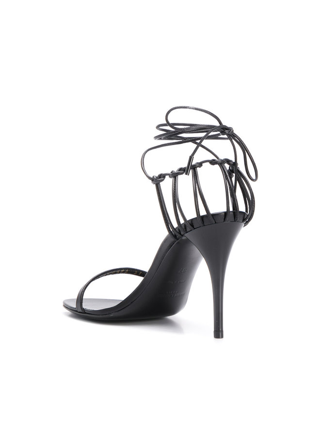 Lexi High Heel Strap Sandals in Black