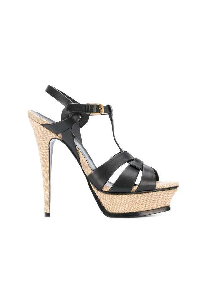 Tribute High Heel Sandals in Black