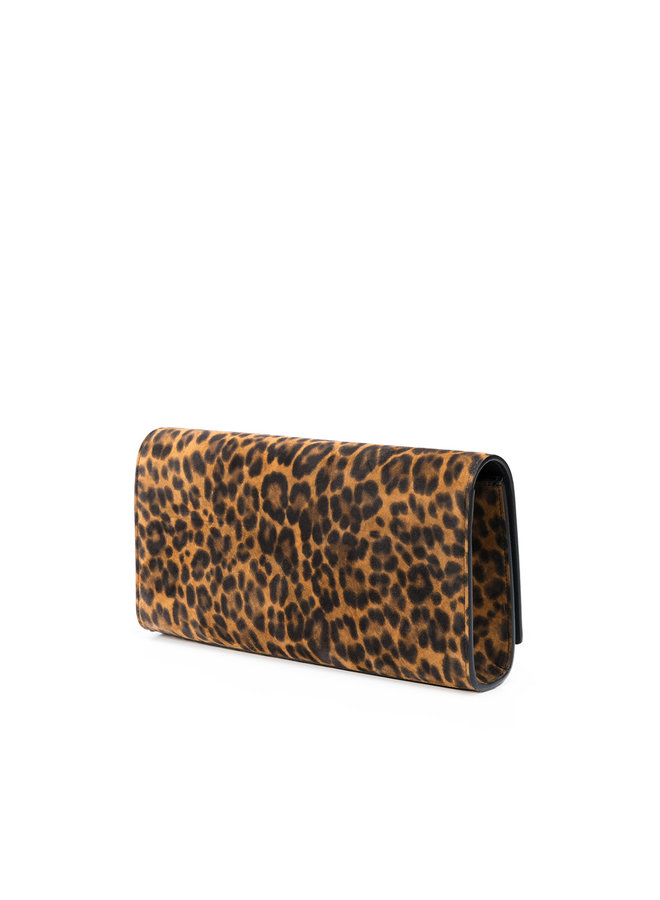 Cassandre Monogram Clutch Bag in Leopard