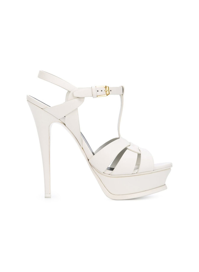 Tribute High Heel Platform Sandal in White