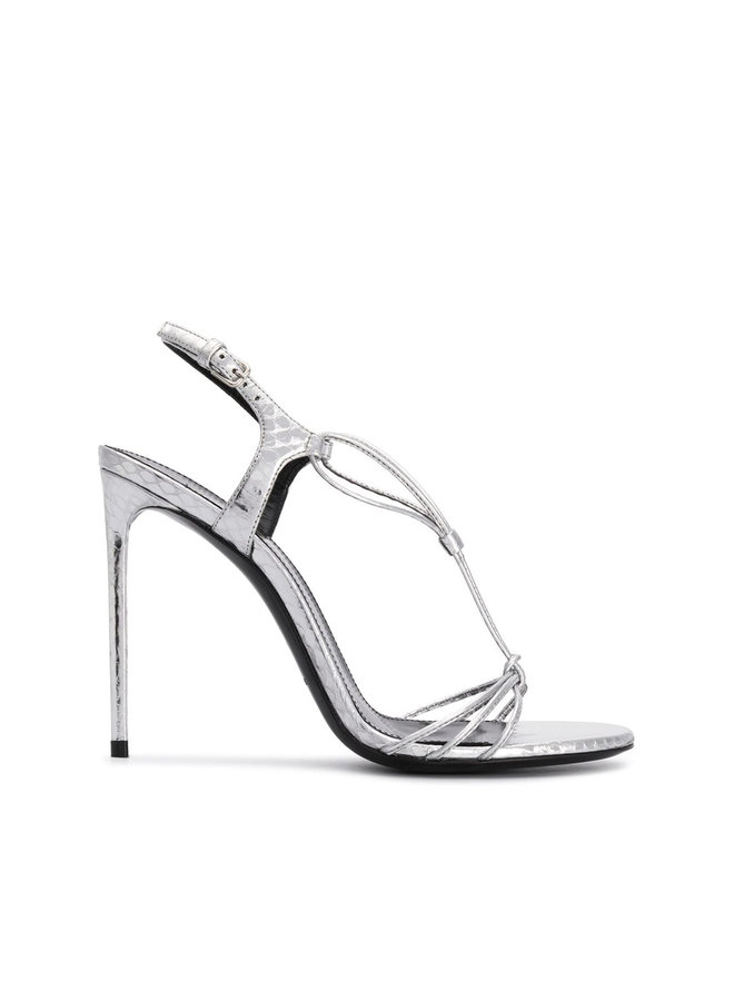 Robin High Heel Sandals in Silver