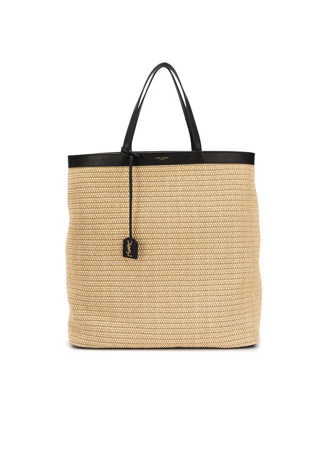 Shopper Tote Bag in Natural Raffia