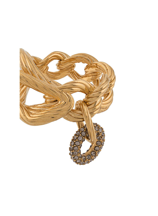 Chain Ring in Gold/Crystal