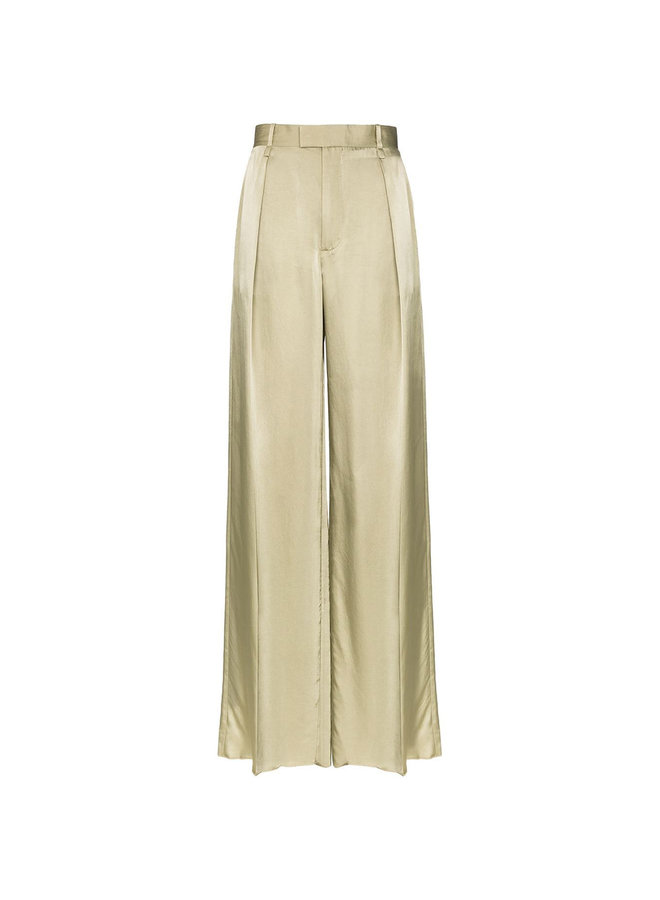 High Waisted Wide Leg Pants in Military Green
