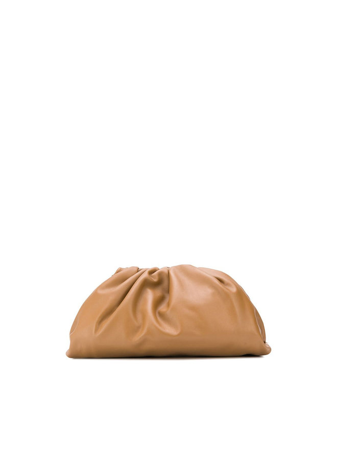 The  Pouch Large Clutch Bag in Camello Leather