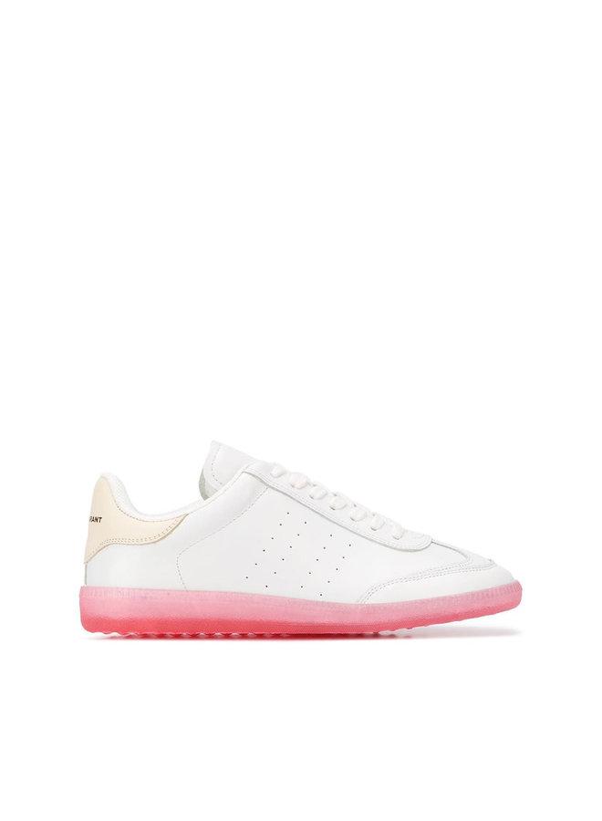 Bryvee Low Top Sneakers in White/Pink