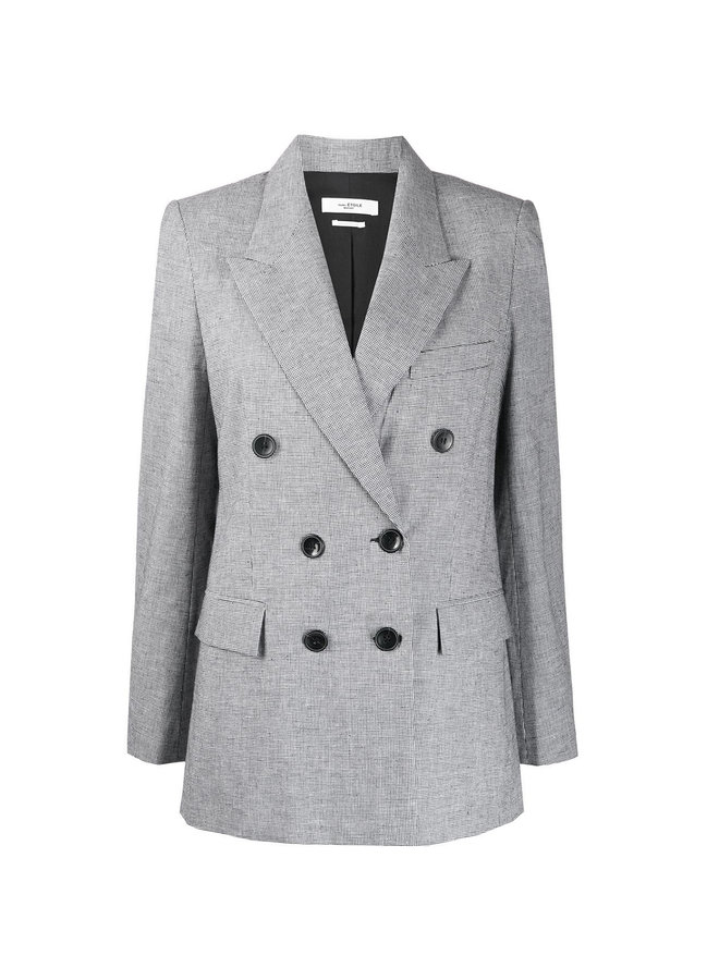 Double Breasted Blazer Jacket in Lavender