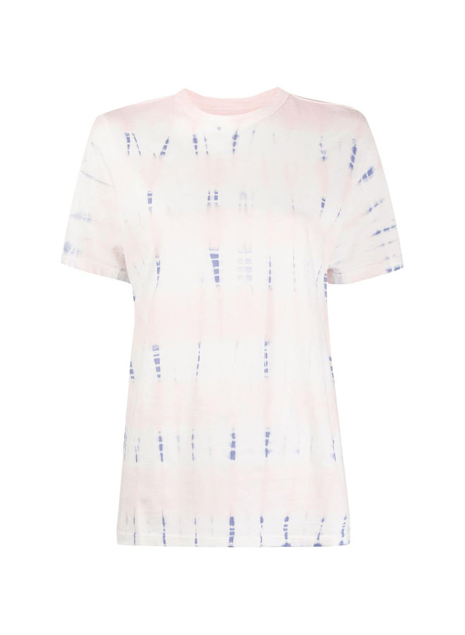 Dena Short Sleeve Tie Dye T-Shirt in Nude